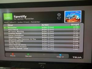 Uppspelning med Spotify i Teliaboxen